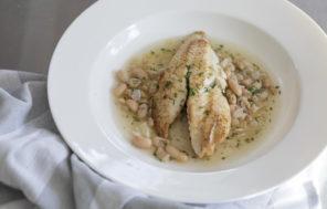 Pan Fried Fish in a Cannellini Bean Broth - Jax Hamilton