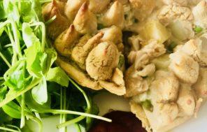 Cannellini Bean Mash Top Chicken & Mustard Pie - Jax Hamilton